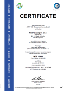 ISO / TS CERTIFICATION 169-49