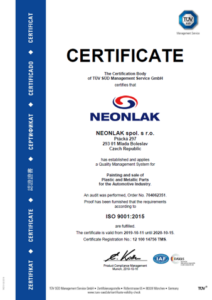 CERTIFICATION ISO 9001, ISO 14001